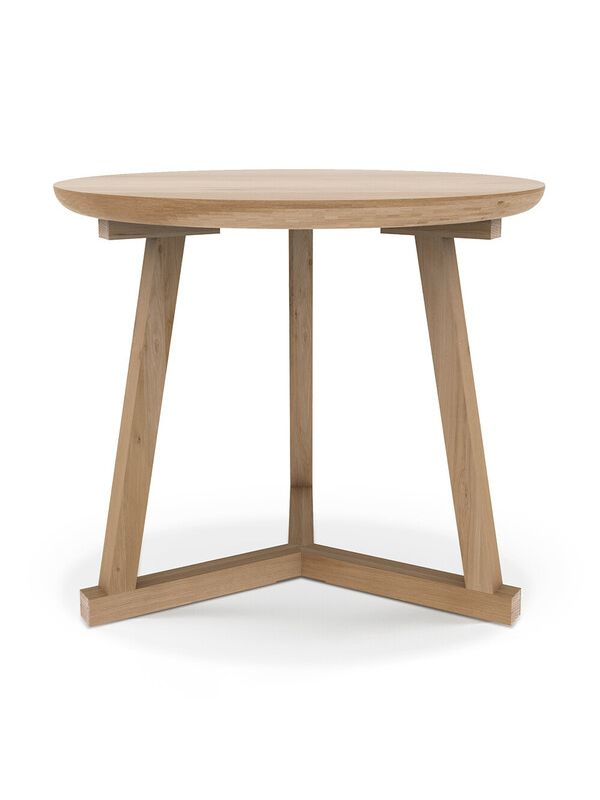 Oak Tripod Side Table - Large