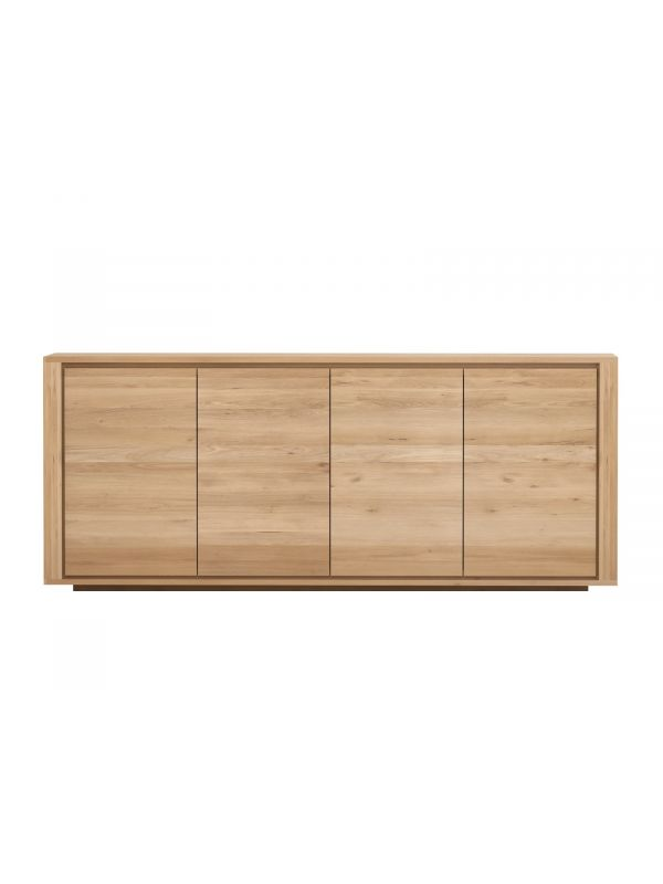 Oak Shadow Sideboard - 4 Doors