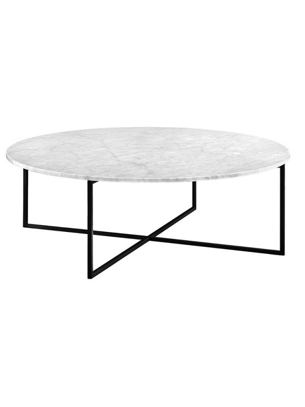 Elle Luxe Marble Round Coffee Table - Large