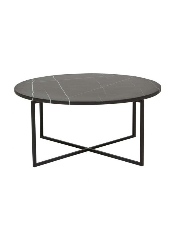 Elle Luxe Marble Round Coffee Table - Small
