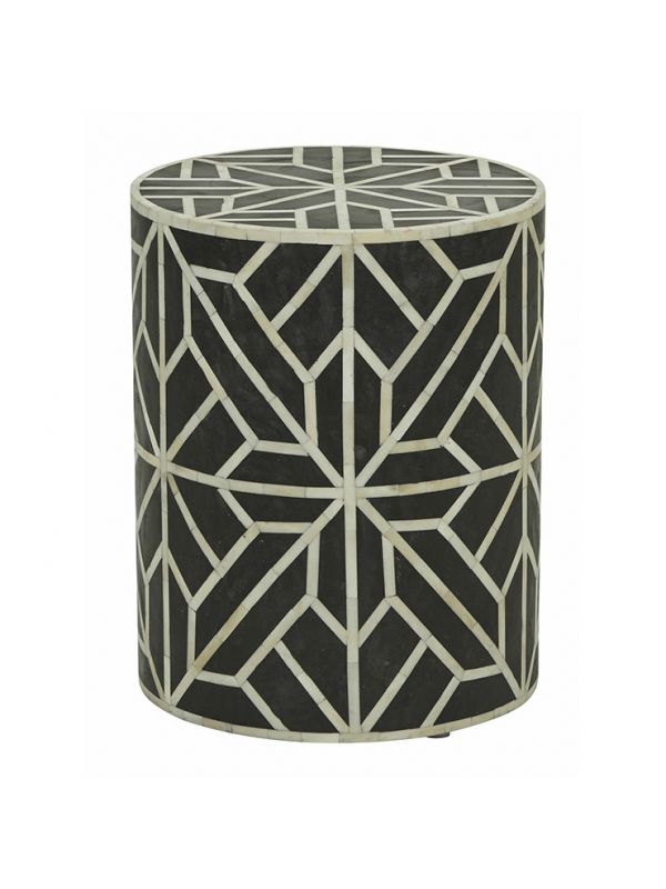 Taj Bone Inlay Geometric Side Table